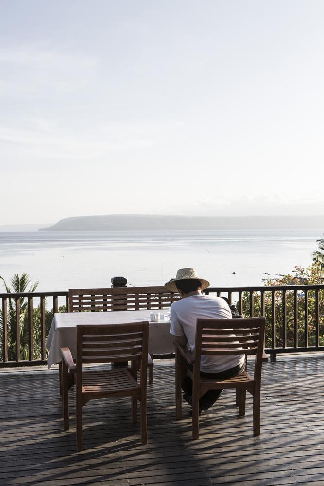 Semawa Seaside Cottages dengan pemandangan spektakuler.