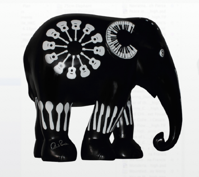 Patung gajah kreasi Richard Branson, konglomerat pendiri Virgin Group.