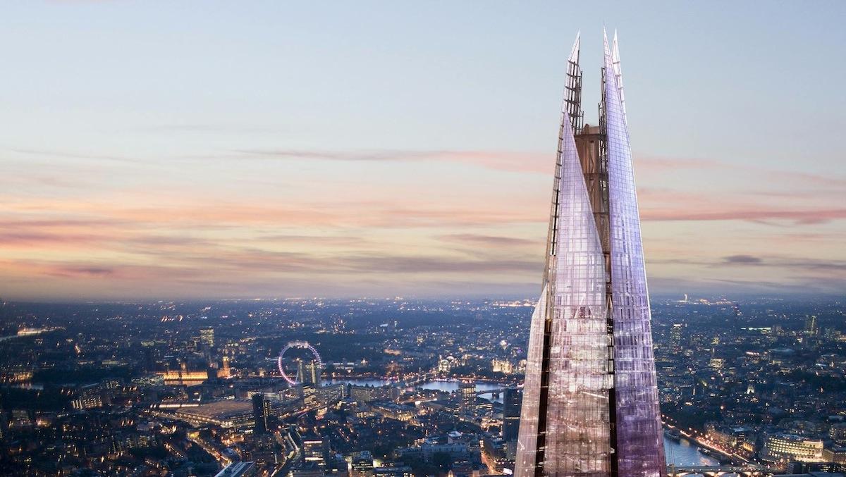 Gedung The Shard yang merupakan gedung tertinggi di Eropa Barat.