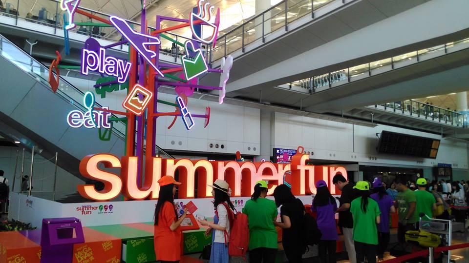 Gerai Hong Kong Summer Fun VIP di Bandara Internasional Hong Kong.