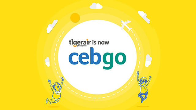 Logo Cebgo yang mengadopsi warna khas Cebu Pacific Air.