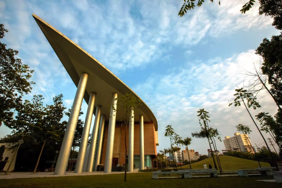 Fasad bangunan Museum Southeast Asia dengan desain yang menarik.