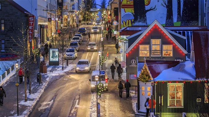 Suasana di tengah kota Reykjavik. (Foto: Visit Reykjavik)