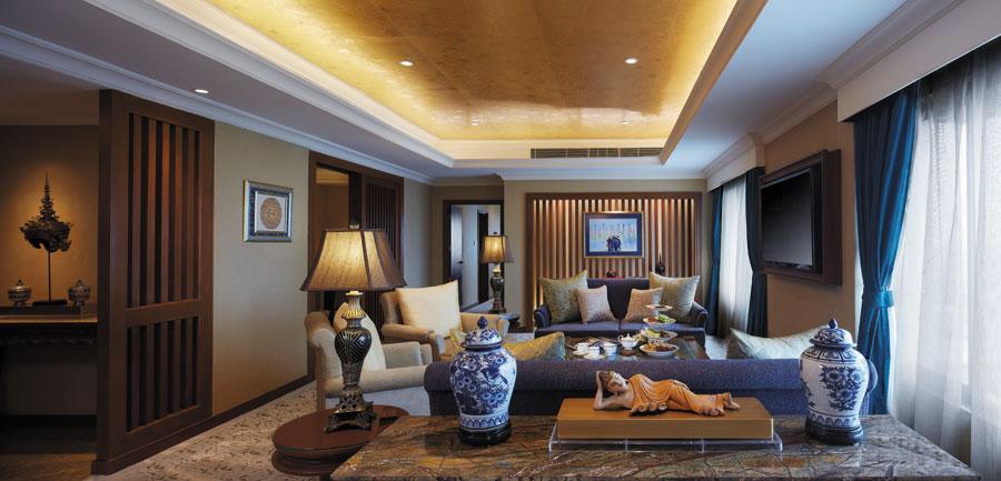 Kamar tipe Suite memiliki luas mulai dari 66 meter persegi.